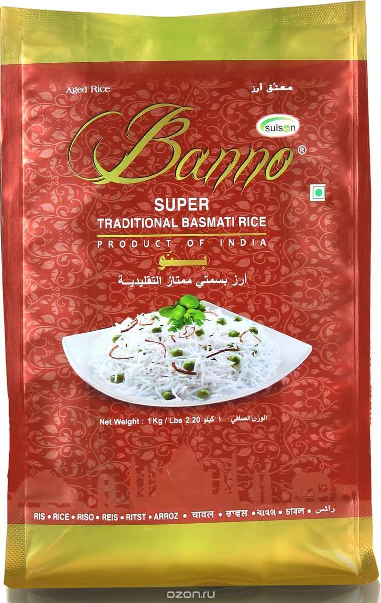 Banno Super Traditional басмати рис, 1 кг